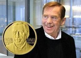 Medalla en recuerdo de Václav Havel, primer presidente de la Rep. Checa