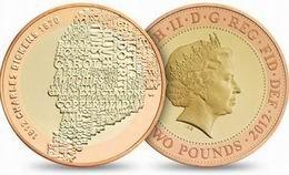 2 libras en oro y plata para Charles Dickens