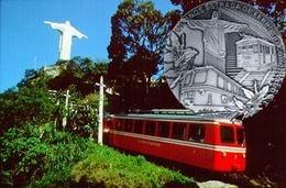 Medalla conmemorativa de los 120 años de la vía del ferrocarril al Corcovado