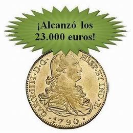 Áureo&Calicó: monedas de CarlosIV se cumplió el pronóstico
