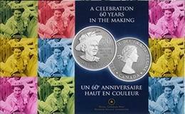 Canadá muestra los 60 años de reinado de Isabel II en 20 dólares plata