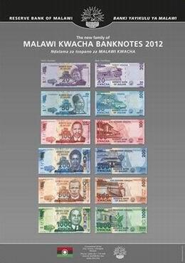 Malawi ya cuenta con una nueva familia de billetes 2012
