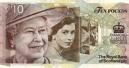 10 libras conmemorativas para el Jubileo de Diamantes de Isabel II