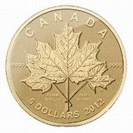 Maple Leaf 2012 en oro, plata y platino