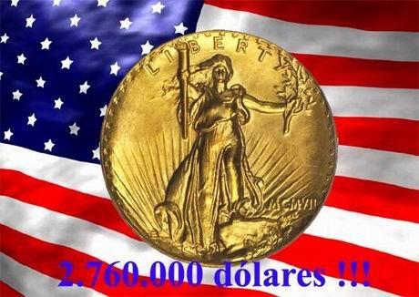"""Casi 3 millones de dólares por un """"Double Eagle"""" de MCMVII (1907)"""