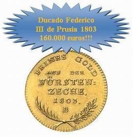 Un ducado de oro de Federico III de Prusia alcanzó 160.000 euros