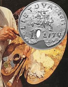 Bellas Artes lituanas en una moneda conmemorativa de 10 litas de plata