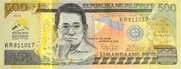 Nuevo billete filipino conmemorativo de 500 piso dedicado al BAsD