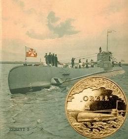 """Submarino polaco """"ORP Orzeł"""" en oro nórdico"""