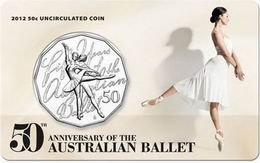 50 centavos conmemorativos dedicados al Ballet de Australia