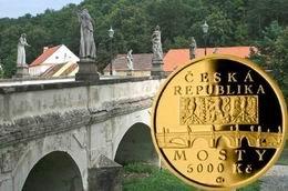 5.000 coronas checas en oro para el puente barroco de Náměšť nad Oslavou