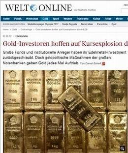 Los inversores del oro están esperando la explosión de los precios del BCE