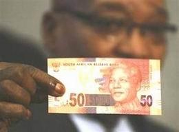 Los nuevos billetes sudafricanos mostrarán la imagen de Nelson Mandela
