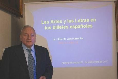 Los billetes españoles entran en el Ateneo de Madrid de la mano de Jaime Casas Plá