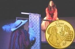 """Monedas conmemorativas en oro y plata para """"Cyrano de Bergerac"""" y Edmond Rostand"""