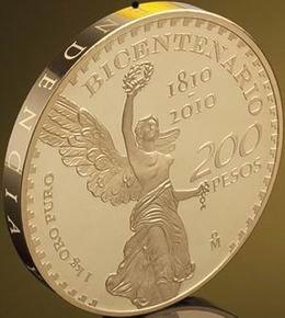 Bicentenario del Inicio del Movimiento de Independencia de Méjico en 1 kg. de oro