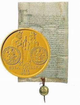 La Bula Siciliana en 10.000 coronas checas de oro