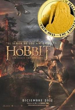 """Monedas en oro y plata para promocionar la nueva película """"El Hobbit: Un viaje inseperado"""""""