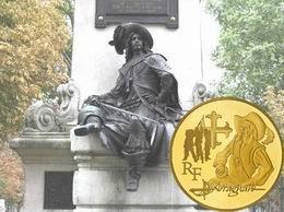 """Monedas conmemorativas francesas de 50 y 10 euro para """"D'Artagnan"""" y Alejandro Dumas"""