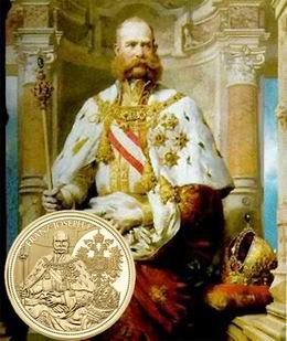 100 euros en oro para la majestuosa Corona Imperial de Austria y Francisco José I