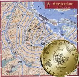 Conmemorativas de 5 y 10 euros, en plata y oro, con los canales de Amsterdam
