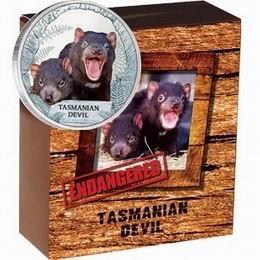 """El """"Diablo de Tasmania"""" en una onza de plata australiana"""