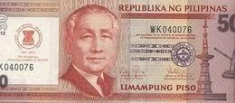 Billete filipino de 50 piso con marca conmemorativa dedicada a la ASEAN