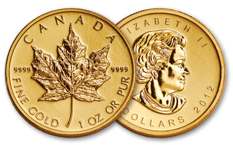 Moneda de oro Maple Leaf