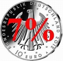 Pueden seguir comprándose monedas en Alemania con el  7% de IVA en 2013