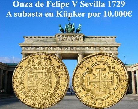 Monedas españolas en la subasta de Künker en Berlín