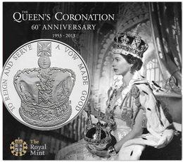 Platino, oro, plata y cuproníquel para las 5 libras de la Coronación de Isabel II