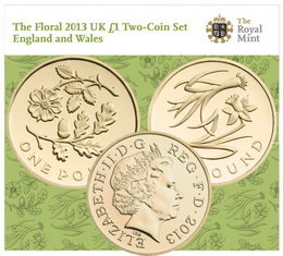 Serie Floral para las nuevas libras 2013 de Inglaterra y Gales