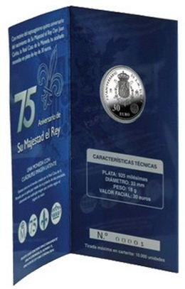 Los 30 euros del 75 Aniversario del  Rey Juan Carlos I en Carterita