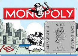 """""""Monopoly"""" en 1 y ¼ de onza de plata de Niue"""
