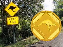 El canguro en las señales de tráfico australianas