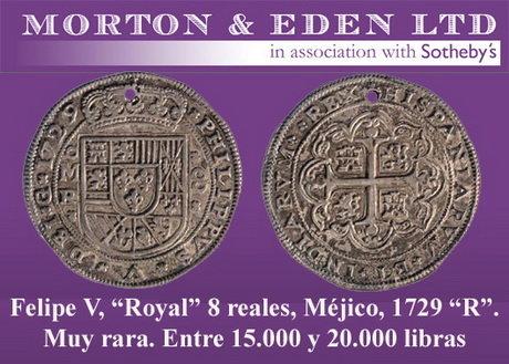 Morton&Eden subasta otra parte de la Colección Huntington de monedas Hispanoamericanas