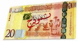 Nuevo billete de 20 dinares en Libia