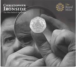 50 peniques conmemorativos del Centenario del nacimiento del diseñador Christopher Ironside