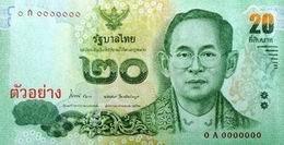 Desde el 1 de abril nuevo billete tailandés de 20 baht