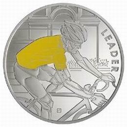 100 Edición del Tour de Francia en 4 monedas de plata coloreada