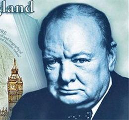 Winston Churchill en los nuevos billetes de 5 libras