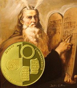Diez medallas en oro para los Diez Mandamientos
