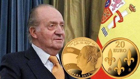 75 Aniversario del Rey Don Juan Carlos I en oro y plata