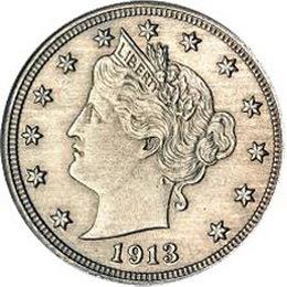 """Una de las cinco """"Liberty Head"""", 1913, """"V"""", se ha vendido por 3 millones de dólares"""