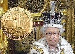 1Kilo de oro y otro de plata para recordar el 60 aniversario de la coronación de Isabel II