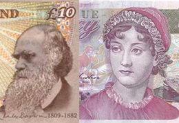 Jane Austen sustituirá a Darwin en los billetes de 10 libras