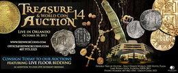 Subasta de monedas del mundo, tesoros y Estados Unidos número 14, de Daniel sedwick