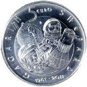 Moneda de 5€ del 50 Aniversario del Hombre en el Espacio
