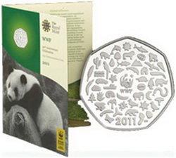 Moneda conmemorativa del 50 aniversario del WWF