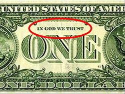 Billetes USA sin Dios